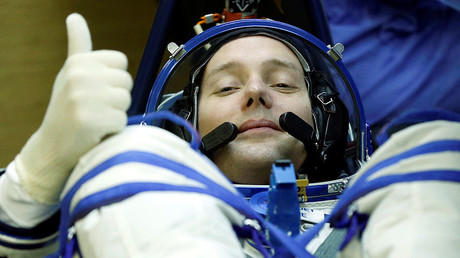 The International Space Station (ISS) crew member Thomas Pesquet © Yuri Kochetov