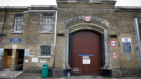A general view shows the main gate of Brixton Prison in London, Britain  © Adrian Dennis