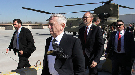 'We're not here to seize oil': US defense secretary arrives in Baghdad on unannounced visit