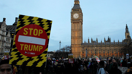 A protest against U.S. President Donald Trump in London, February 20, 2017. © Tom Jacobs