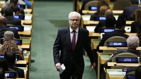 Russian Ambassador to the United Nations Vitaly Churkin © imago stock&people