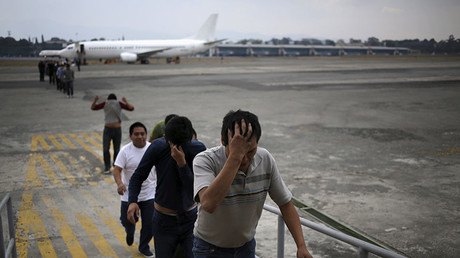FILE PHOTO. Illegal migrants from Guatemala, deported from the U.S. ©Jorge Dan Lopez