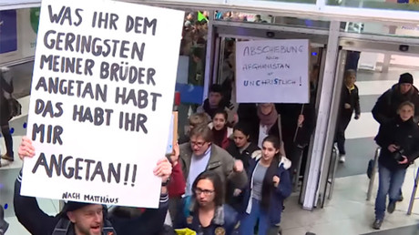 Protesters take over Munich Airport to decry refugee deportation