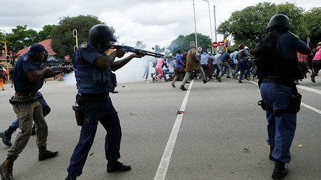 Violent clashes erupt in South Africa as Pretoria residents protest immigrants.
