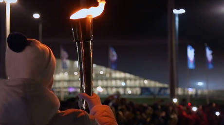Russian athletes light Winter Military World Games flame