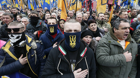 Activists of nationalist groups, Kiev, Ukraine. © Valentyn Ogirenko