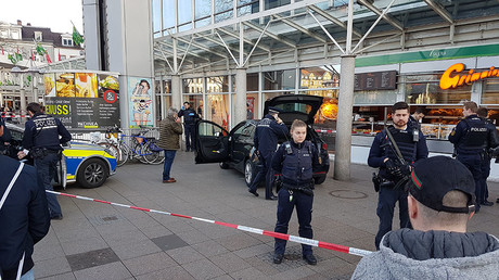 Man armed with knife drives into people in German city, injures 3, shot by police