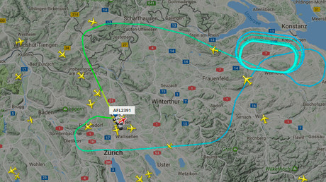 Aeroflot flight to Moscow lands in Zurich after diverting back due to reported engine issues
