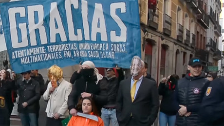 Far-right group attempts to interrupt refugee support rally in Spain