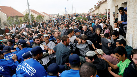 Hundreds of settler activists protest West Bank homes demolition