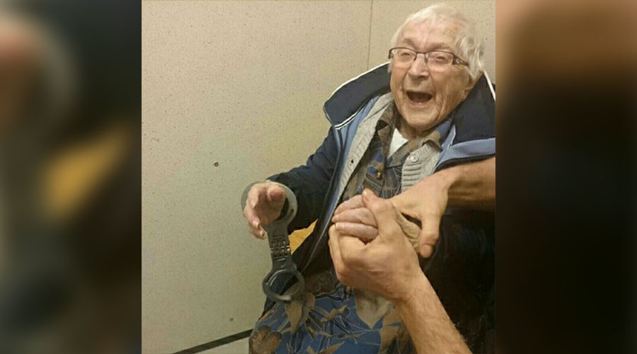 Off the bucket list: 99yo Dutch granny excited to be put behind bars