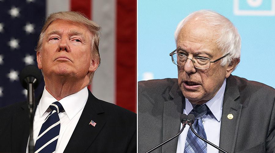 'Who's gonna take on Wall Street?' Sanders trolls Trump's 'drain the swamp' pledge