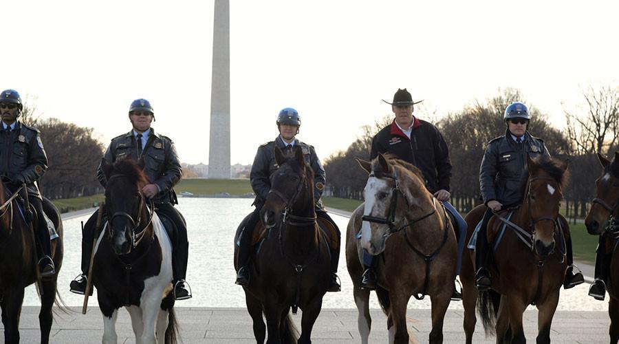 Trump's new Interior Secretary rides to work in cowboy hat