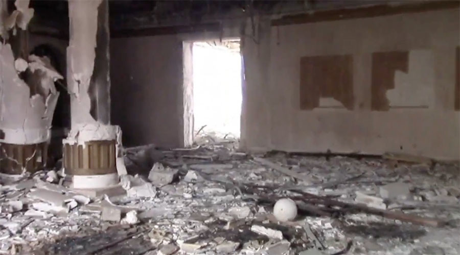 Footage of Qatari royal mansion allegedly used by ISIS' top brass in Palmyra (VIDEO)