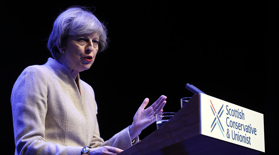 May accuses Sturgeon of 'twisting the truth' in Scottish independence bid