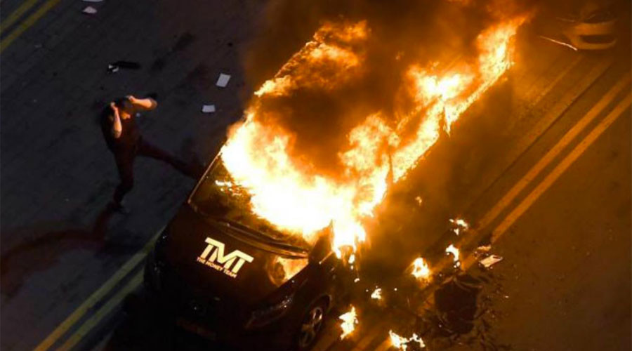 Boxing icon Floyd Mayweather Jr's van set ablaze during UK tour