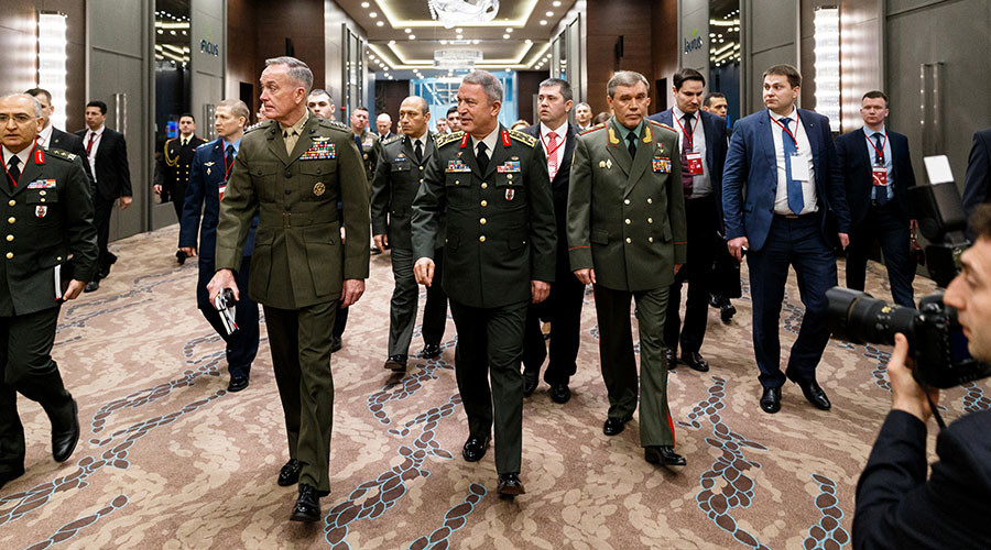 US, Russian, Turkish military chiefs meet in Antalya to discuss Syria, Iraq (PHOTOS)