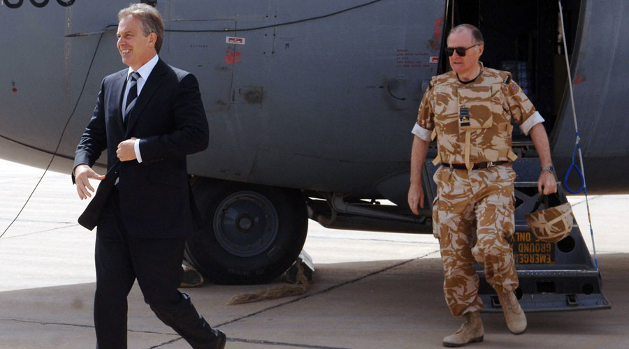 Tony Blair's arrival at Iraq-Afghanistan war memorial sparks backlash