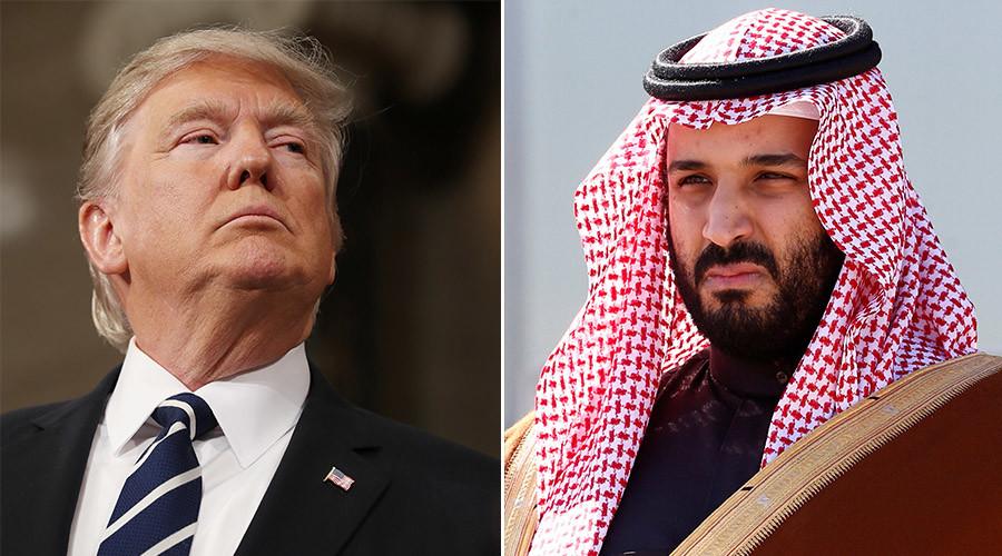 Saudi prince goes to Washington for Trump meet