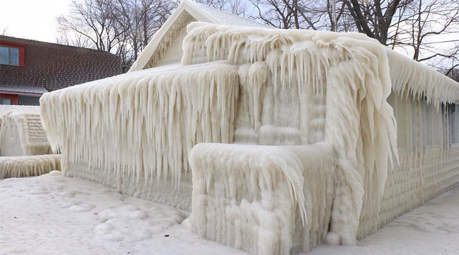 Ice, ice baby:  NY house encased in ice following storm (PHOTOS, VIDEO)