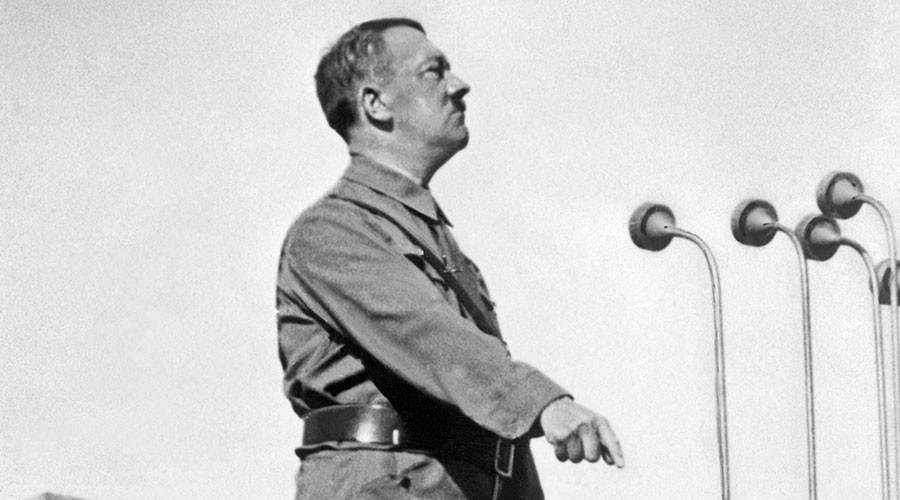 Hitler's 'piece of crap' painting goes on display in Italy