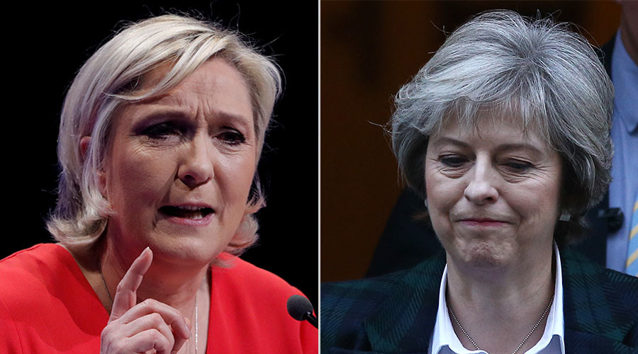 Marine Le Pen tells Nigel Farage British PM is 'good at getting it wrong'
