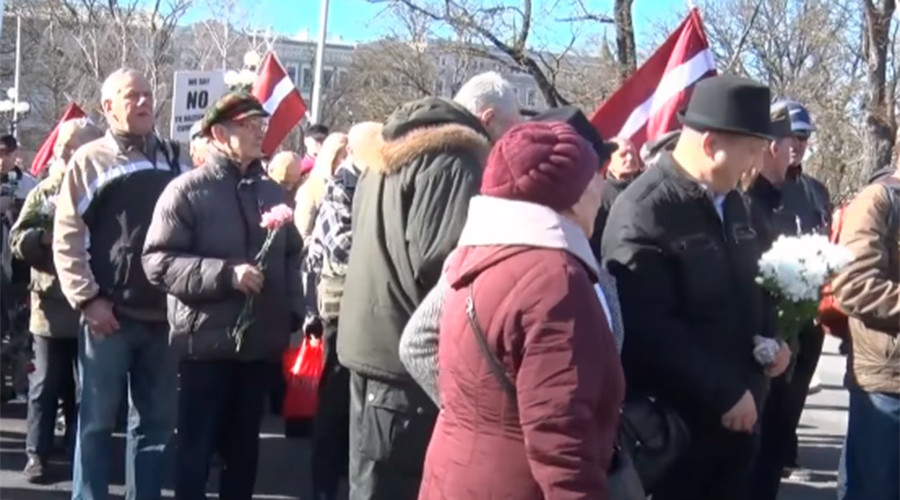 Nationalists & Waffen SS veterans march in Riga to honor fallen Nazi fellows (VIDEO)