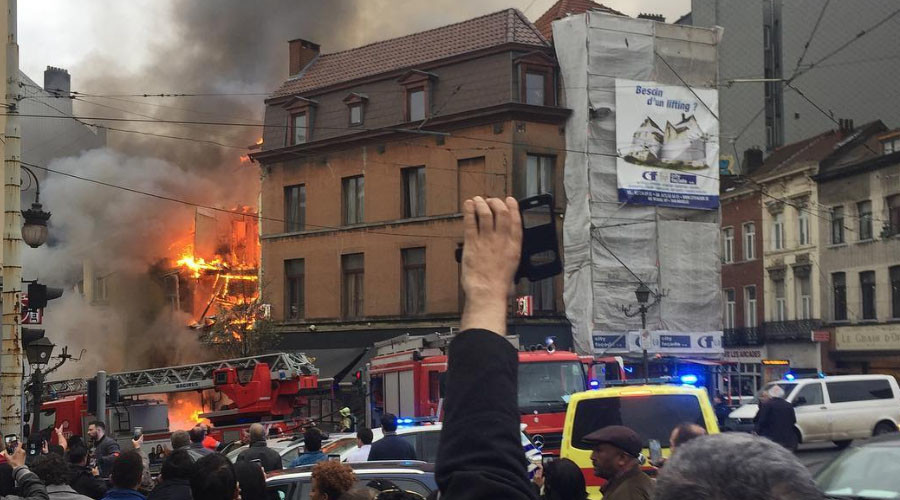 6 injured as huge explosion rocks Brussels neighborhood (VIDEO, PHOTOS)