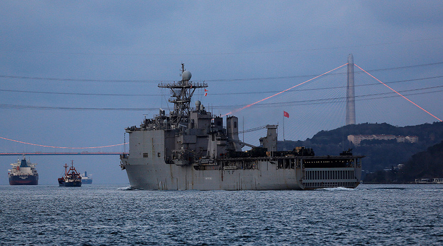 US landing ship with marines enters Black Sea for drills with Romanian navy