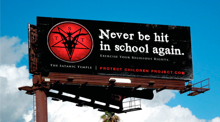 Satanic Temple launches school anti-spanking campaign in Texas (PHOTO, VIDEO)