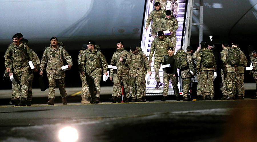NATO logic: British troops in Estonia, good. Russian soldiers in Russia, bad