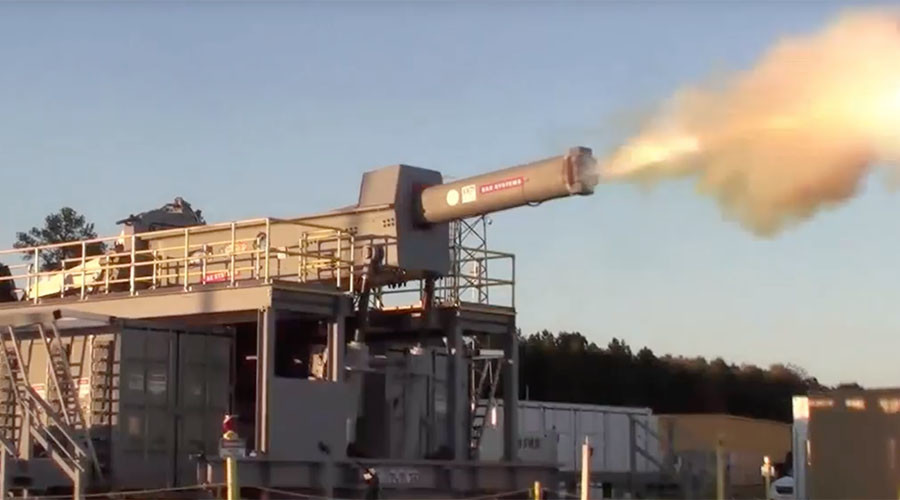 US Navy test fires futuristic railgun (VIDEO)