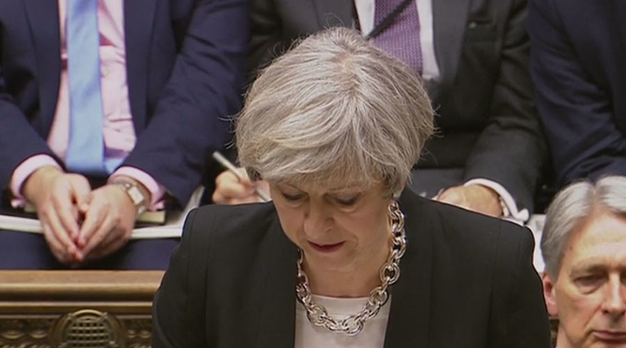 Theresa May tells Parliament terrorist attacker was UK national known to MI5