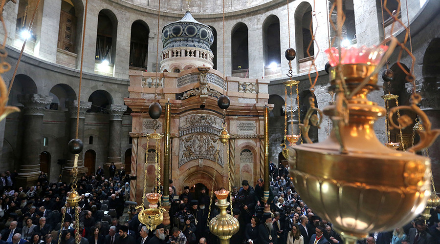 Jesus' tomb reopened in Jerusalem amid fears of 'catastrophic' collapse (PHOTOS)