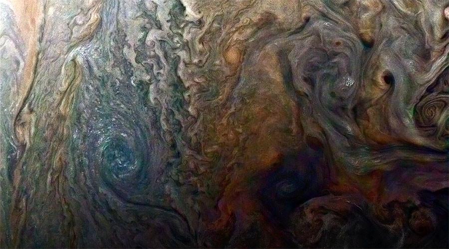 'Galaxy of swirling storms': Juno snaps stunning turbulence over Jupiter (PHOTO)