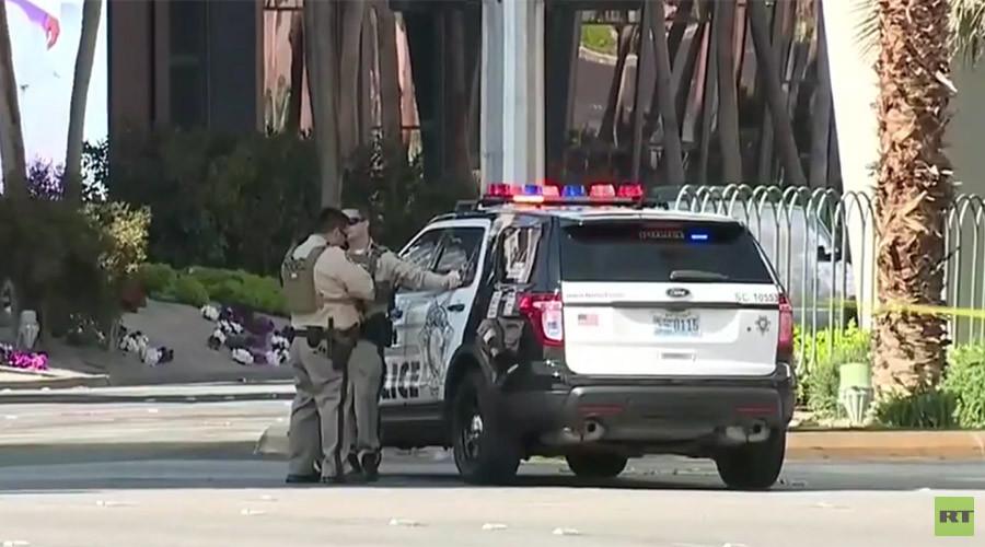 Las Vegas shooting: Gunman surrenders after killing 1, barricading himself on bus