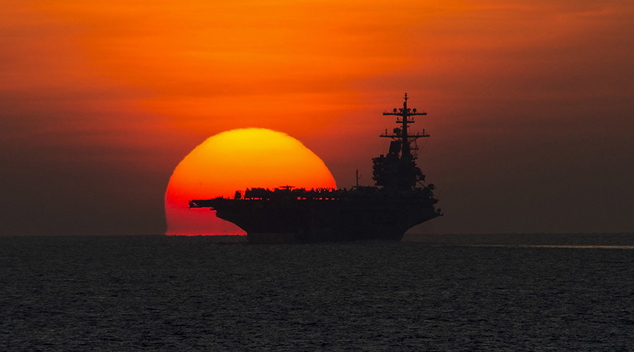Pentagon deploys aircraft carrier to Persian Gulf in case of Iraq op