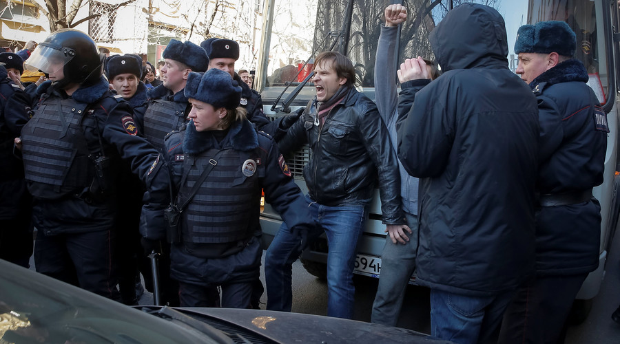 Russian opposition leader jailed over anti-graft protests