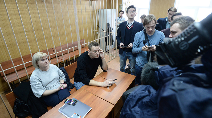 Navalny fined $350 for staging unauthorized rally, gets 15 days in jail for resisting arrest