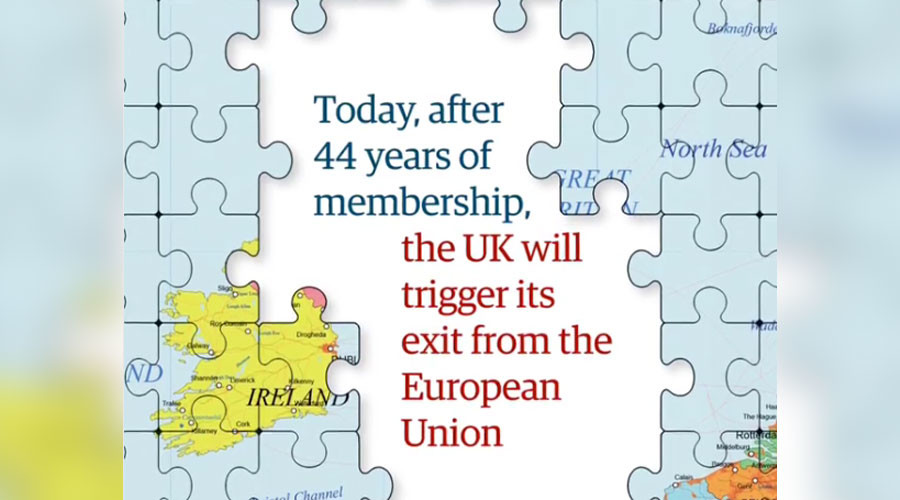 Brex-saw puzzled: Irish baffled by UK annexation in Guardian's new EU map