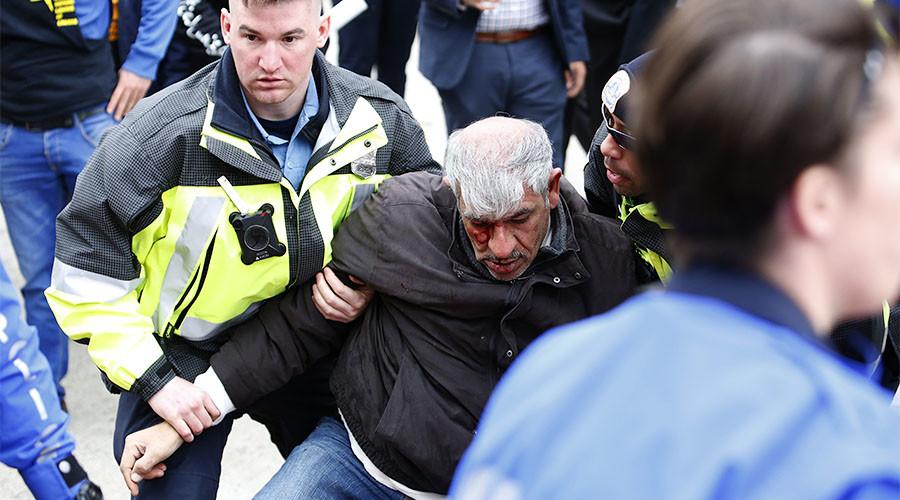 55yo father beaten by 'terrorist' Jewish Defense League outside AIPAC (VIDEOS)