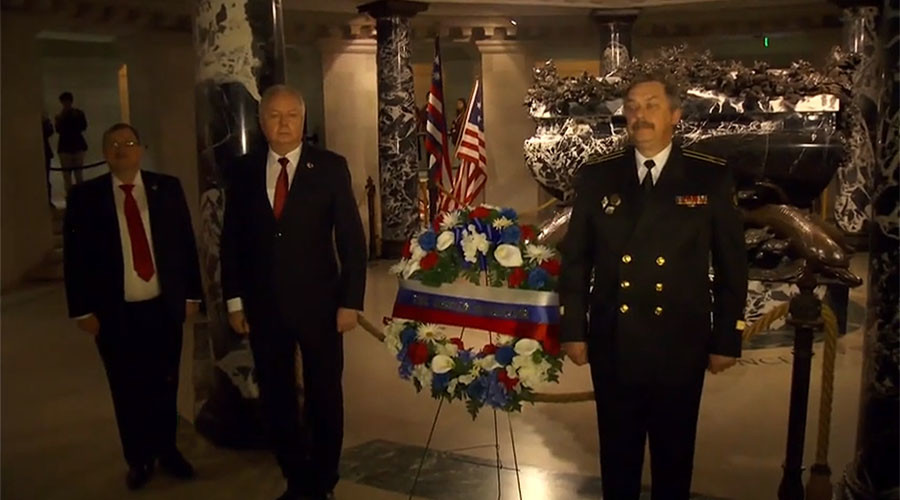 Russia & US pay respects to naval hero of both nations, John Paul Jones (VIDEO)