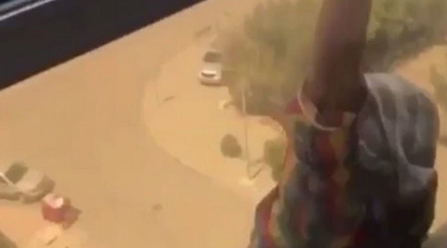 Kuwaiti woman filmed Ethiopian maid's suicide attempt, refusing to help (SHOCK VIDEO)