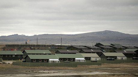 FILE PHOTO. View of the Military Air Base in Mount Pleasant in the Falkland Islands on March 26, 2012. ©Martin Bernetti
