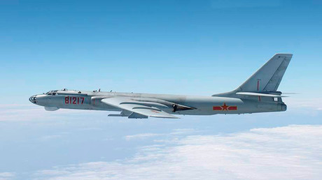 A Chinese military plane H-6 bomber. ©Joint Staff Office of the Defense Ministry of Japan