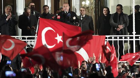 Turkish Foreign Minister Mevlut Cavusoglu, Hamburg, Germany March 7, 2017. © Fabian Bimmer