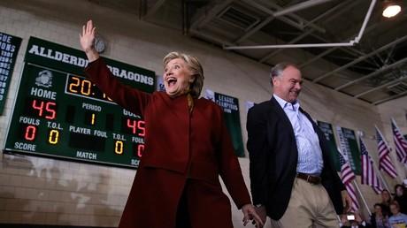 Hillary Clinton and Tim Kaine Carlos Barria