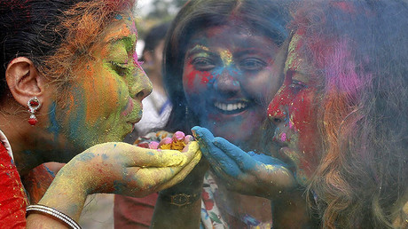 Explosion of color: India celebrates Holi festival