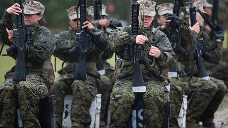 Female Marine recruits © Scott Olson / Getty Images