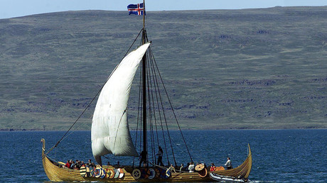 The Icelandic longship Icelander, a replica of thousand year old viking ships © HH / CLH